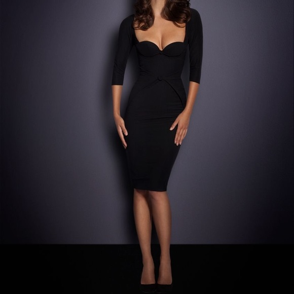 really comfortable big discount clearance sale AGENT PROVOCATEUR BLACK THORA DRESS size 4